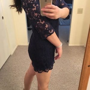 Forever 21 lace dress in navy